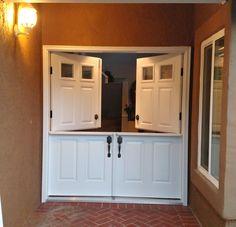 Double Dutch Doors.