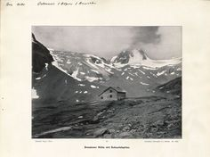 Dresdner Hütte mit Schaufelspitze; Ans_01080 Mountain, Painting, Art, Shovel, Art Background, Painting Art, Kunst, Paintings, Performing Arts