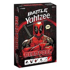 NEW-Battle-Yahtzee-Deadpool-Board-Game-Marvel-Classic-Family-Fun-USAopoly-CHOP