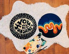 Art Hoe Aesthetic, Aesthetic Painting, Record Wall Art, Cd Art, Hippie Art, My New Room, Vinyl Art, Diy Painting, Art Inspo