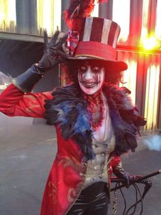 Awesome creepy ringmaster costume and makeup