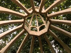 Joachim Tantau - Wooden construction for sixteen-fold domed garden pavilion Roof Truss Design, Roof Ceiling, Garden Pavilion, Roof Trusses, Architectural Features, Cabinet Makers, Futuristic, Gazebo, Architecture Design