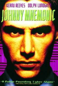 A data courier, carrying a data package literally inside his head too large to hold for long, must deliver it before he dies from it.  Amazon.com: Johnny Mnemonic: Keanu Reeves, Dolph Lundgren, Takeshi, Ice-T: Amazon Instant Video