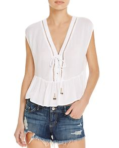 MINKPINK Lace-Up Top
