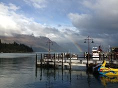 Queenstown from the pier, winter 2013