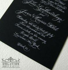 I love black paper invitations.....