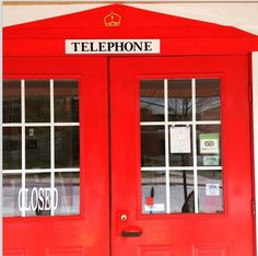 Why not paint our front doors to resemble an English phone booth? ☎️ why not exactly, we answered!