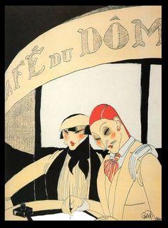 pinupcraze: A American in Paris Ralph Barton 1915