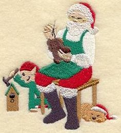 Machine Embroidery Designs at Embroidery Library! - Santa Claus