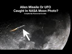 Alien Missile Or UFO Caught Next To Moon