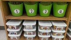 Here's a nice post on organizing kindergarten math centers.