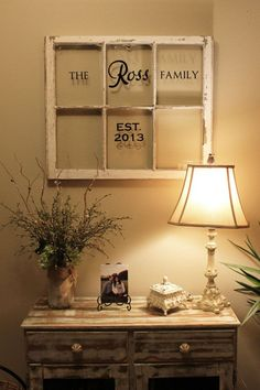 Personalized Antique Old Windows on Etsy, $100.00....Schaeffer might be too long for a window pane but I still like it :)