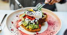 Ah yes, the humble breakfast. Nothing is more fitting for the Melbourne hipster scene than grabbing a hot cuppa coffee and settling down to a big helping of smashed av'. Melbourne Breakfast, Good Morning Sunshine, Best Breakfast, Fine Dining, Salmon Burgers, Avocado Toast, Coffee Shop, Brunches, Snacks