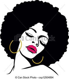 Stock Illustration - afro hair hippie woman pop art - stock illustration, royalty free illustrations, stock clip art icon, stock clipart icons, logo, line art, pictures, graphic, graphics, drawing, drawings, artwork