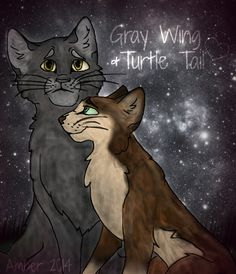 Warriors: Gray Wing and Turtle Tail by xoThunderClanFan.deviantart.com on @DeviantArt