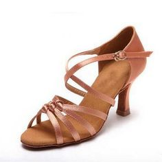 Miyoopark Womens Fashion Brown Satin Latin Salsa Ballroom Wedding Sandals 10 US *** Read more at the image link. (This is an affiliate link) Ballroom Dance Shoes, Ballet Dance, Women's Open Toe Sandals, Black Women Fashion, Womens Fashion, Ballroom Wedding, Black Satin, Athletic Shoes, Footwear