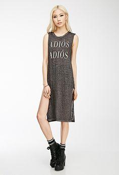 Adiós Adiós High-Slit Midi Dress | FOREVER21 - 2000116468