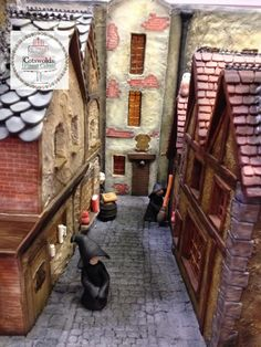 Diagon Alley cake. Inspired by Harry Potter.