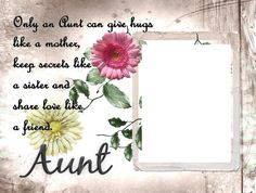 Unframed 8x10 For My Favorite Aunt Photo by SapphireCustomPhotos, $10.00