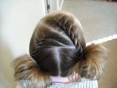 Hairstyles for girls, cute hairstyles & tutorials for waterfall braids, fishtail braids, how to french braid, dutch braid & prom hairstyles. French Twist Hair, French Braids, French Twists, Girl Hair Dos, Baby Girl Hair, Princess Hairstyles, Little Girl Hairstyles, Toddler Hairstyles, Hair Colors