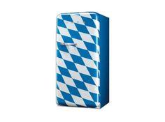 Smeg Kühlschrank Bayern ,Standkühlschrank, blau