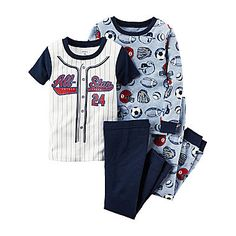jcp | Carter's® 4-pc. Sport Pajama Set - Baby Boys newborn-24m