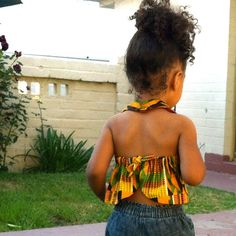African Print Girls Halter top  Demi Halter in 5 by theHouseofLux, $36.00