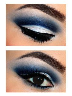 Bello azul eléctrico