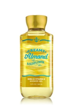 Creamy Almond & Sunflower - Shower Gel - SIGNATURE COLLECTION - Bath & Body Works - Wash your way to softer, cleaner skin with a rich, bubbly lather bursting with fragrance. Moisturizing Aloe and Vitamin E combine with skin-loving Shea Butter in our most irresistible, beautifully fragranced formula!