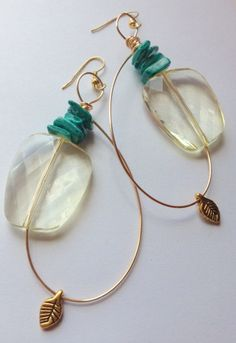 Love on Top Sweet Handmade Hoop Earrings by luniacstyle on Etsy, $26.00