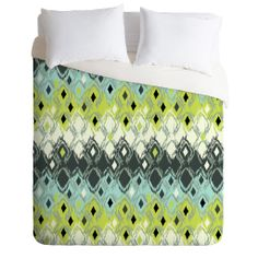 Sarah Watts Snakeskin Duvet Cover | DENY Designs Home Accessories #green #yellow #unique #gift #home #decor