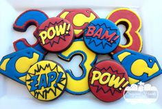 1 Dozen Superhero Cookies