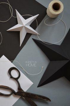 agnetha.home: PAPER STAR 3D - DIY