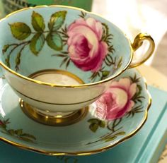 Foley teacup set now part of the VictorianHighTea.com collection.