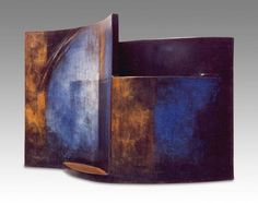 'Untitled' 1988 by Carme Collell. Ceramics Pottery Mugs, Pottery Vase, Ceramic Pottery, Ceramic Art, Modern Ceramics, Contemporary Ceramics, Wood Glass, Glass Art, Abstract Sculpture