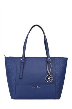 Guess Jeans - Torebka shopper niebieska granat