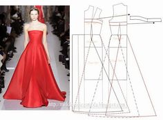 """A huge selection of """"Dress + Pattern."""" Discussion on LiveInternet - Russian Online Diaries Service Evening Dress Patterns, Dress Making Patterns, Evening Dresses, Fashion Sewing, Diy Fashion, Ideias Fashion, Female Fashion, Diy Clothing, Sewing Clothes"""