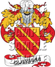 Clariana Family Crest apparel, Clariana Coat of Arms gifts