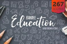 Education Bundle Icons - Hand Drawn Icons - Cover