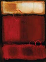 Urban Moment II  by Haynes Worth prints for sale. Urban Moment II Abstract canvas, acrylic, custom frame prints. Orientation: vertical . Color tones: red , beige