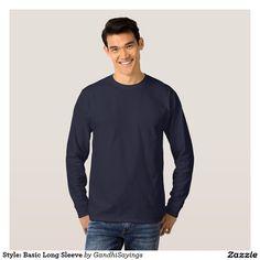 Style: Basic Long Sleeve T-shirts