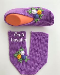 - Tricot - Hausschuhe stricken - – Tricot Informations About - Easy Knitting, Knitting Socks, Knitting Stitches, Crochet Boots, Crochet Baby, Knit Crochet, Baby Knitting Patterns, Crochet Patterns, Crochet Slipper Pattern