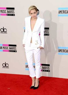 #MileyCyrus dons a rather conservative outfit on the red carpet of the 2013 American Music Awards in at #NokiaTheater LA Live on Nov 24, 2013  http://celebhotspots.com/hotspot/?hotspotid=5718&next=1