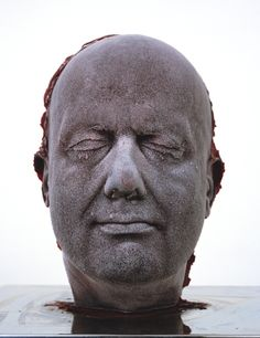 """ Back in fine artist Marc Quinn, (one of what's now known as the Young British Artists) started the greatest self-portrait project of all time. Self (blood head) is a self portrait that has. Marc Quinn, Human Body Parts, List Of Artists, Famous Artists, David Hockney, Sang, National Portrait Gallery, Artist Profile, Art Uk"