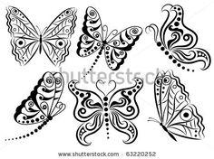 Pattern in a shape of a butterly. by Oksanika, via Shutterstock