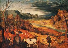 The Return of the Herd (October/November) - 1565 - Pieter Bruegel
