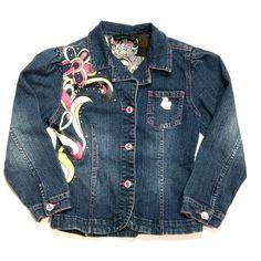 Girls Denim Jacket, Jean Jacket For Girls, Denim Coat, Blue Denim Jeans, Denim Maxi Dress, Girl Sleeves, Floral Denim, Guess Jeans, Ebay Selling