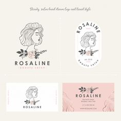 Beauty salon feminine logo, brand style Premium Vector Source by logo Schönheitssalon Logo, Logo Branding, Branding Design, Hair Salon Logos, Makeup Artist Logo, Beauty Salon Logo, Minimal Logo, Exhibition, Photography Logos