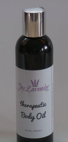 Therapeutic Body Oil Lavender Body Oil Lavender Massage Oil Lavender Farm Massage Oil