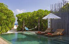 Beach Pool Villa. Anantara Kihavah Villas, Maldives, © Anantara Hotels